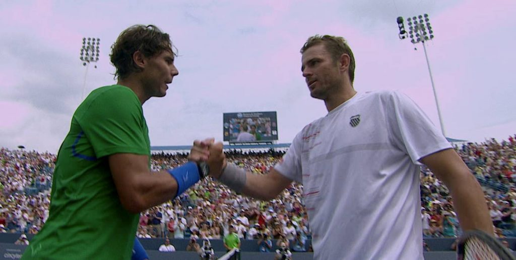 UNTOLD: BREAKING POINT. (L to R) RAFAEL NADAL and MARDY FISH in UNTOLD: BREAKING POINT. Cr. COURTESY OF NETFLIX © 2021