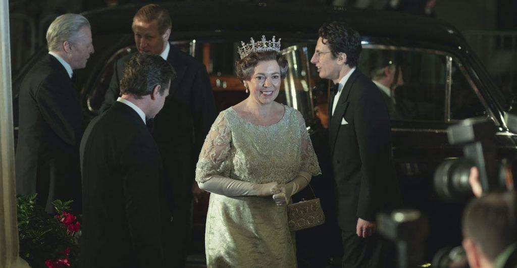 PICTURE SHOWS: Queen Elizabeth II (OLIVIA COLMAN). Filming Location: Lyceum Theatre