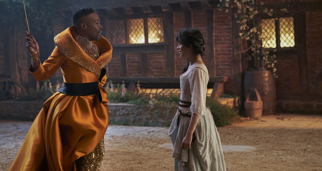 Billy Porter and Camila Cabello star in CINDERELLA Photo: Kerry Brown © 2021 Amazon Content Services LLC