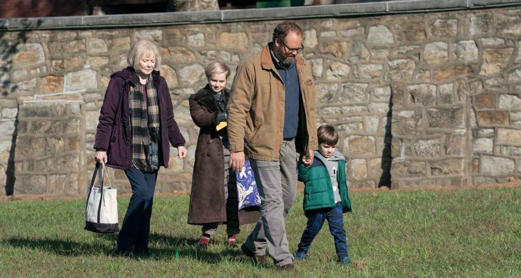 Jean Smart, Angourie Rice, David Denman, Izzy King. Photograph by Sarah Shatz/HBO