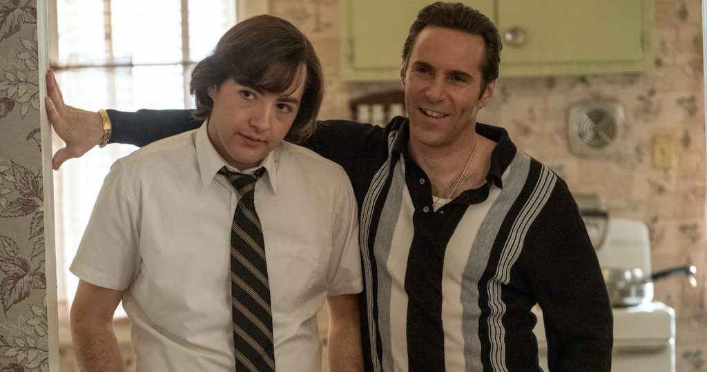 """Caption: (L-r) MICHAEL GANDOLFINI as Teenage Tony Soprano and ALESSANDRO NIVOLA as Dickie Moltisanti in New Line Cinema and Home Box Office's mob drama """"THE MANY SAINTS OF NEWARK,"""" a Warner Bros. Pictures release. Photo Credit: Barry Wetcher"""