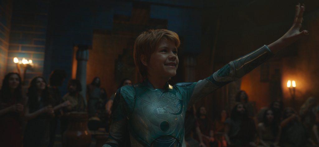 Sprite (Lia McHugh) in Marvel Studios' ETERNALS. Photo courtesy of Marvel Studios. ©Marvel Studios 2021. All Rights Reserved.