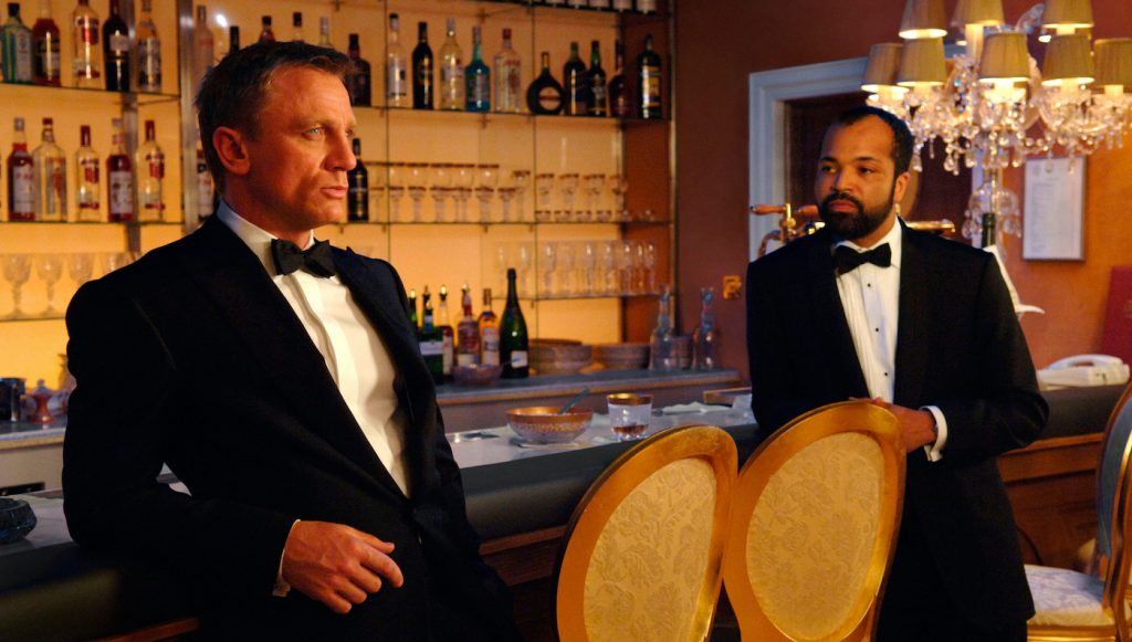 Daniel Craig (left) and Jeffrey Wright (right) star in Metro-Goldwyn-Mayer Pictures/Columbia Pictures/EON Productions' action adventure Casino Royale. Photo Credit: Jay Maidment