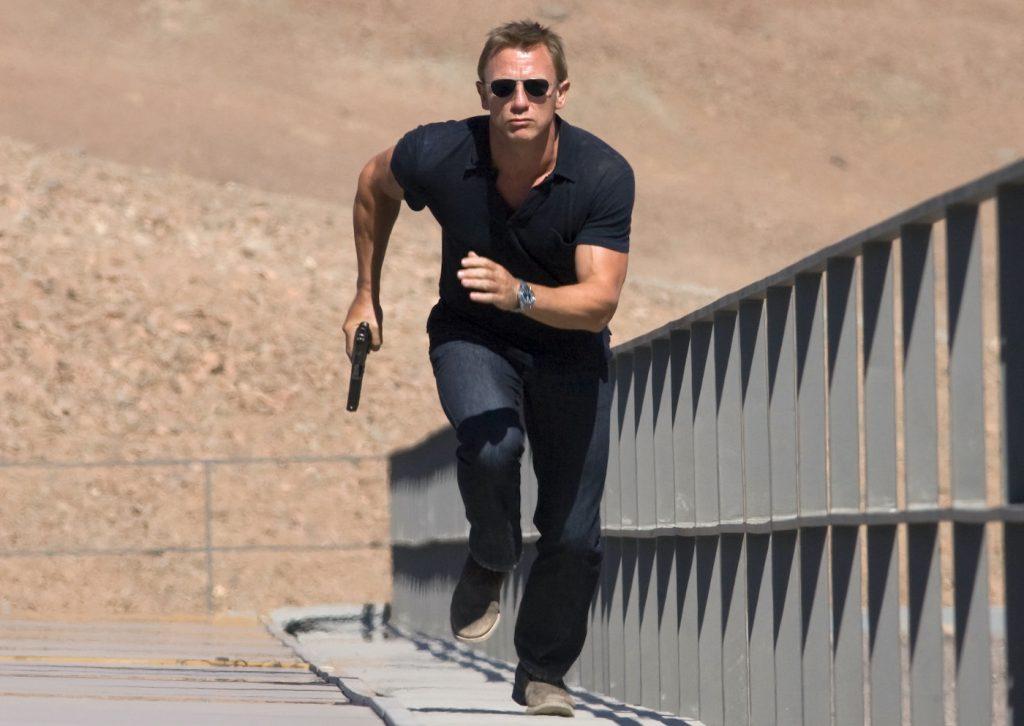 James Bond 007 (DANIEL CRAIG) at Perla De Las Dunas, Bolivia. Photo by Karen Ballard.