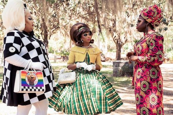 Eureka, Shangela, Bob the Drag Queen. Photograph by Connie Chornuk/HBO